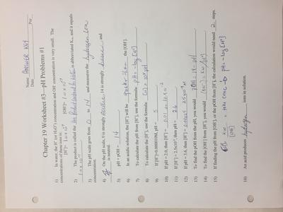 Chemistry 122 answers to review for 19 1 & 19 2   Miramichi